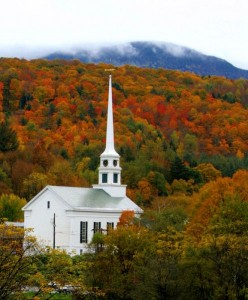 Fall Foliage Stowe VT